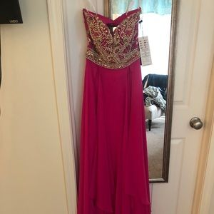 Pink Alyce long formal gown